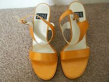 Womens Nine West High Heels Yellow Size 7 1/2