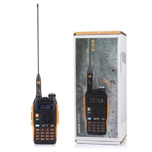 5x Baofeng GT-3 MarkII Dual-Band 2m//70cm VHF UHF Ham Two-way Radio Free Cable