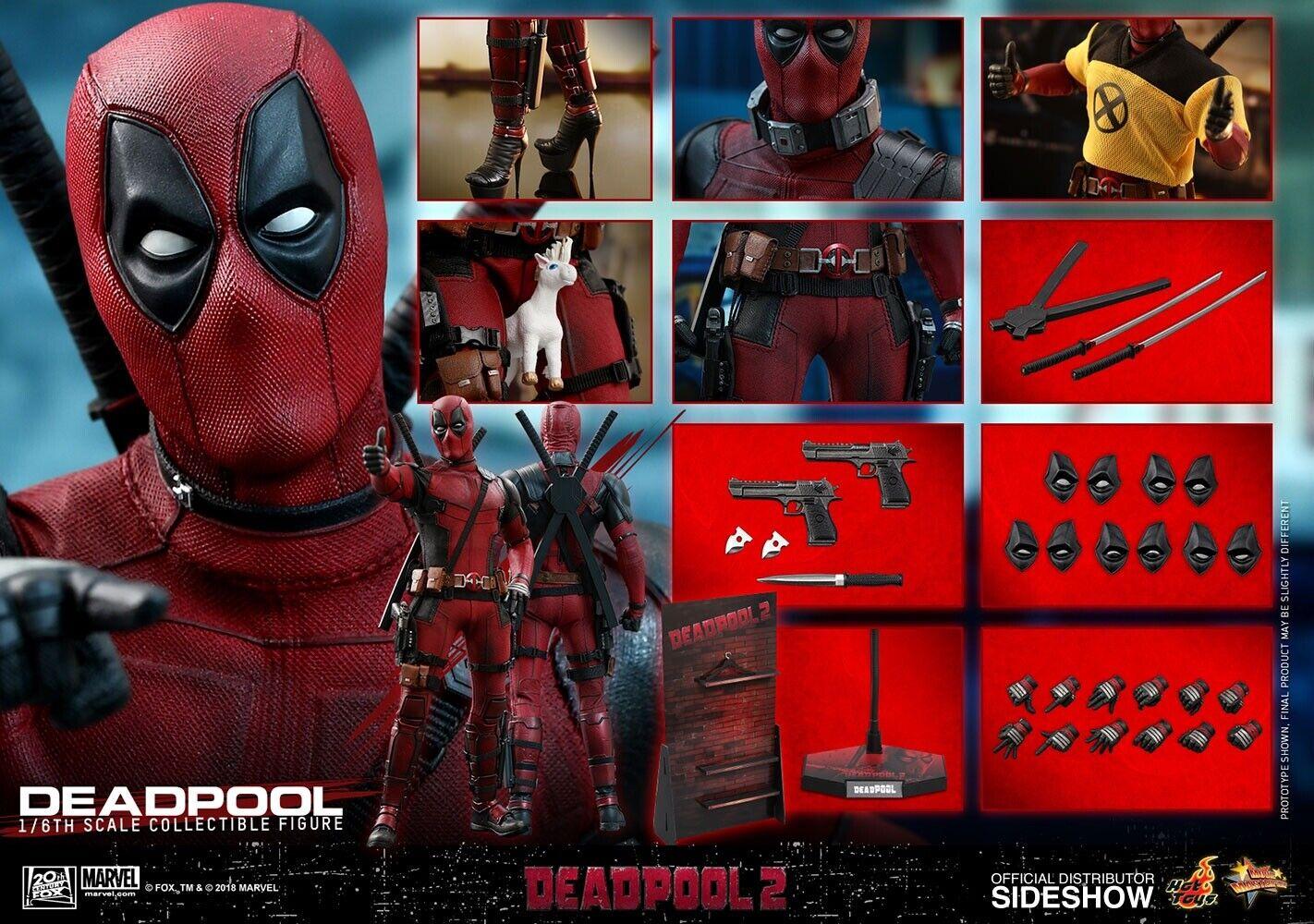 1 6 Hot Toys HT MMS347 2.0 Deadpool Action Figure Original Version