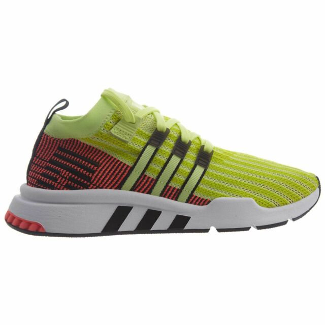 new style 29c77 f86d1 adidas EQT Support Mid ADV PK Mens B37436 Glow Turbo Primeknit Shoes Size 10