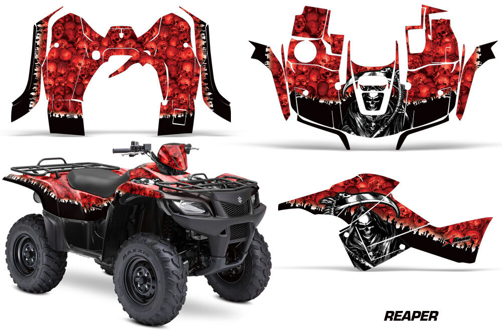 Atv Grafik Kit Sticker für Suzuki Quad 500 500 500 Axi 2013-2015 Reaper Rot 978bf0