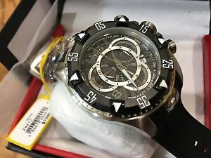 24271-Invicta-Excursion-52mm-Men-039-s-Quartz-Chronograph-Black-Dial-BLK-Strap-Watch