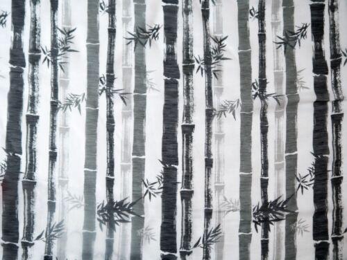 Bambusmotiv Seide Leinen Gardinenstoff Dekostoff Meterware 135 cm breit