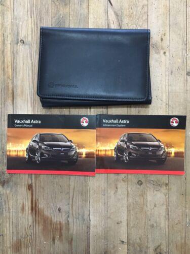 2012-2016 VAUXHALL ASTRA Proprietari Manuale Manuale Pack e Portafoglio Stampa 2012