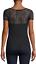 bebe-Logo-Shirt-Rhinestone-Lace-PEAKABOO-Top-Black-Stretch-2016-S-M-XL-R13 thumbnail 2