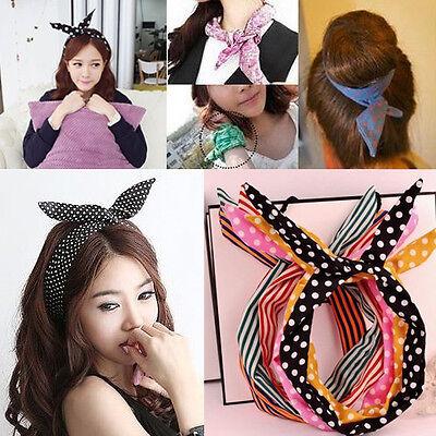 25 Farben Hasenohren Kopftuch Haarband Kopfband Stirnband Band Haarschmuck
