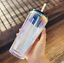 thumbnail 4 - New-Starbucks-Holiday-2020-Iridescent-Glass-18oz-Cold-Cup-Tumbler-Straw