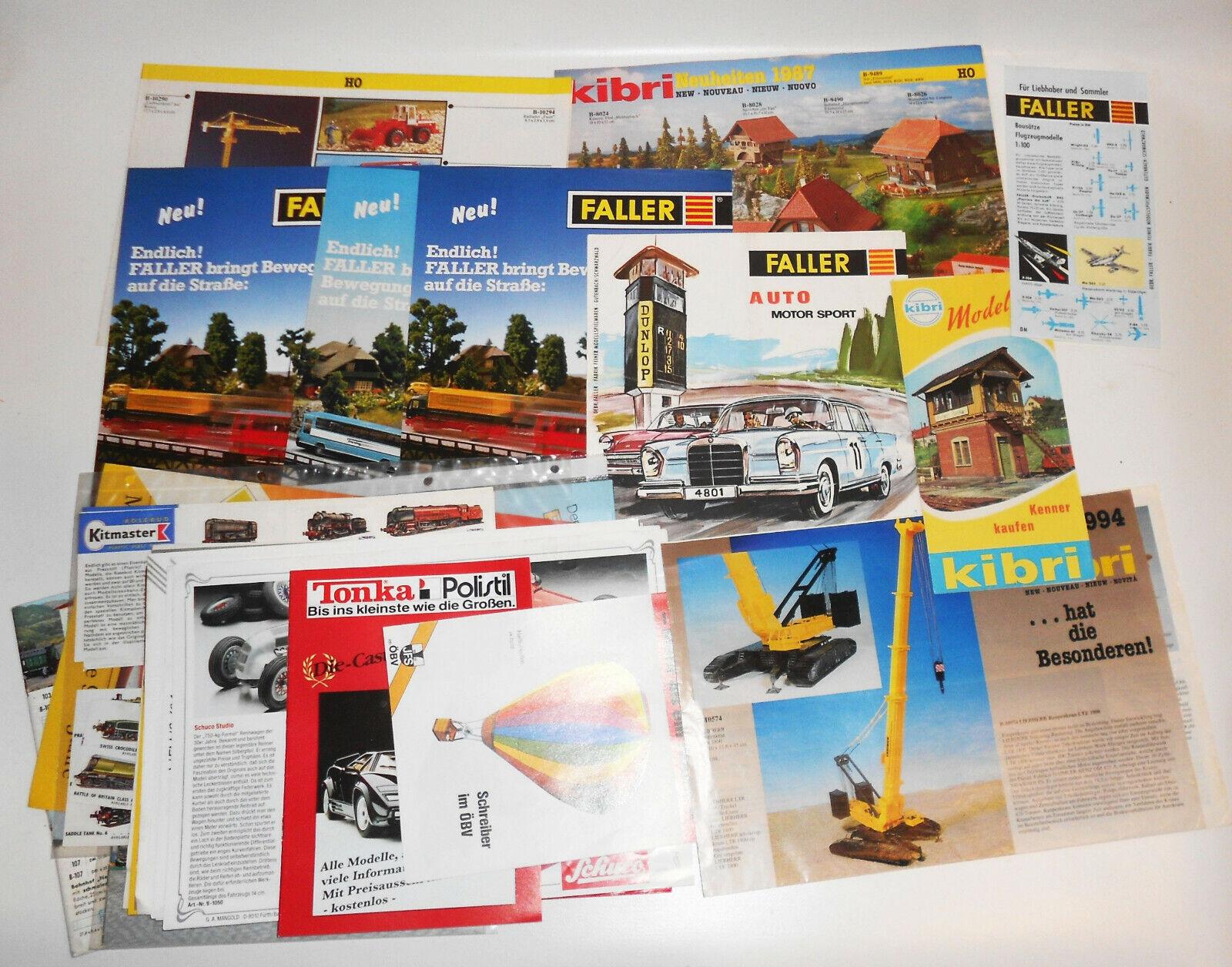 Konvolut Werbe Blätter Prospekte Modellauto Modellbahn Eisenbahn 1990er Jahre(K1