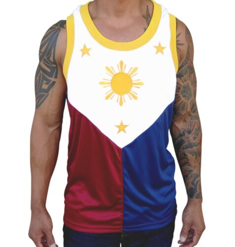 Filipino Flag Jersey Manny Pacquiao Shirt Philippines Ribbed Collar Cuff