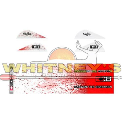 blancs du sang éclaboussures 101040 WSPT Bohning Blazer 12 ARROW Vanes//Wrap Combo