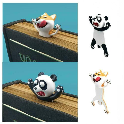 3d estéreo Cartoon animal marcadores gato panda Book Kids regalos marks d4w9