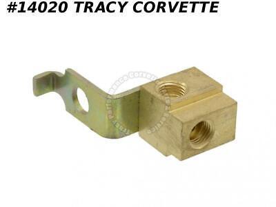 """65-66 W//PB 1//4/"""", 67-68 All 65-68 Corvette Brake Line Left Front Block"""