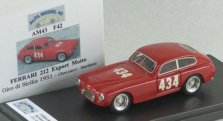 tienda ALFA MODEL 43 AM43F42 FEREARI 212 EXPORT MOTTO GIRO GIRO GIRO DI SICILIA  1951 CHECCACCI-  barato