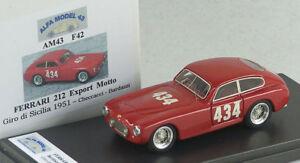 Alfa modèle 43 Am43f42 Fereari 212 Devise à l'exportation Giro Di Sicilia 1951 Checcacci-