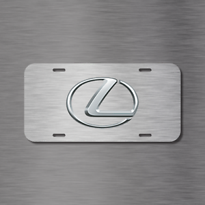 LEXUS Vehicle Front License Plate Auto Car RX IS GS LX LS Simulated BRUSHED NEW
