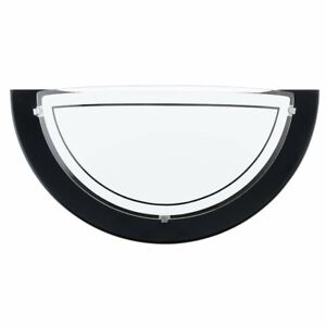 Modern-Black-Wall-Light-Half-Moon-4w-LED-Bulb-Wall-Light-with-Frosted-Glass