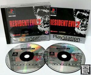 Resident-Evil-2-Sony-Playstation-ps1-Platinum-Spiel-PAL-ausgezeichnete-komplett