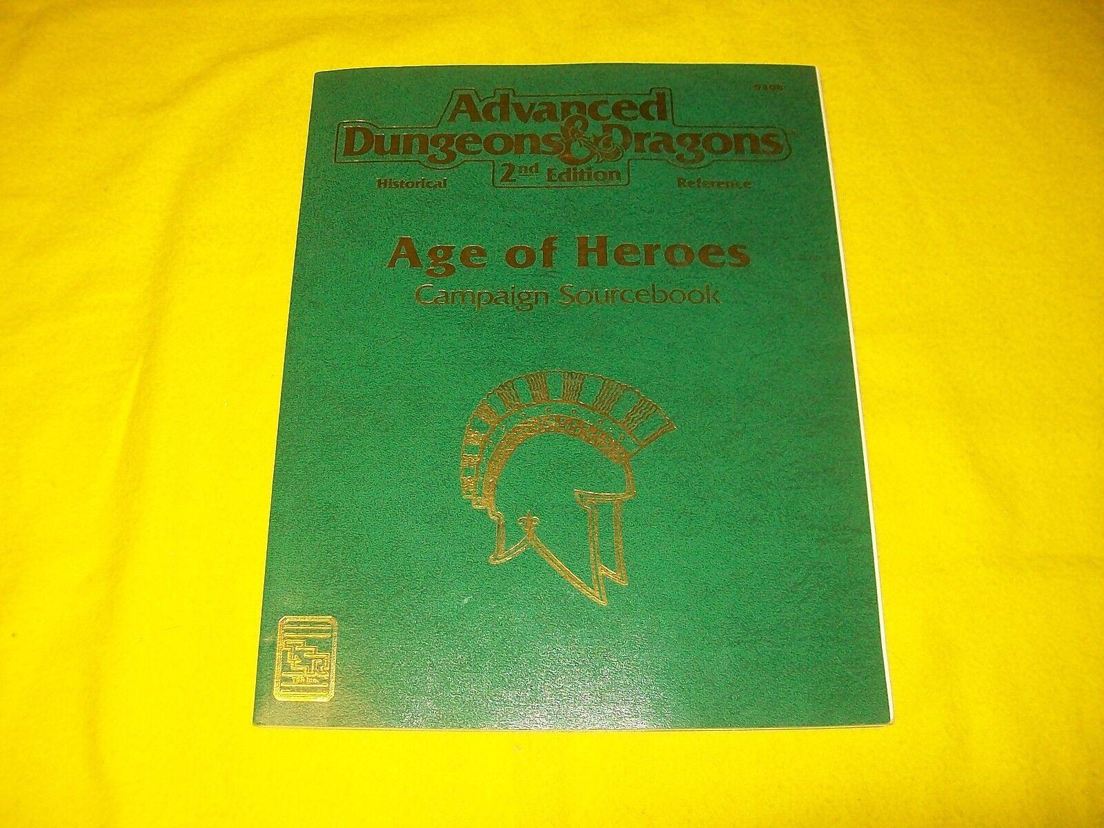 Ahorre hasta un 70% de descuento. Edad de héroes campaña campaña campaña Sourcebook Dungeons & Dragons AD&D 2ND edición 9408 - 2  forma única