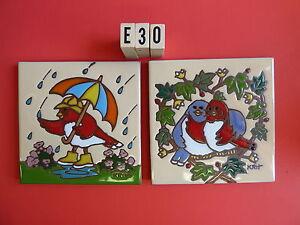 Céramique Art Carrelage 15.2cmx15.2cm 2 Pcs Trépied Set Oiseaux Amour en Coeur & tI1ibL3J-09165249-658037627