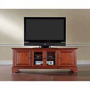 Crosley Furniture LaFayette 60-Inch Low Profile TV Stand, Classic Cherry