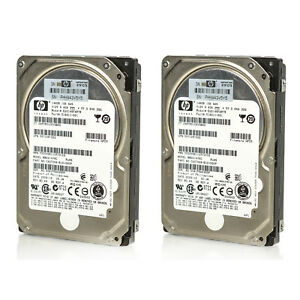 Lot-of-2-Assorted-HP-2-5-034-146GB-10K-RPM-16MB-6Gbp-SAS-HDD-375863-430165-431954