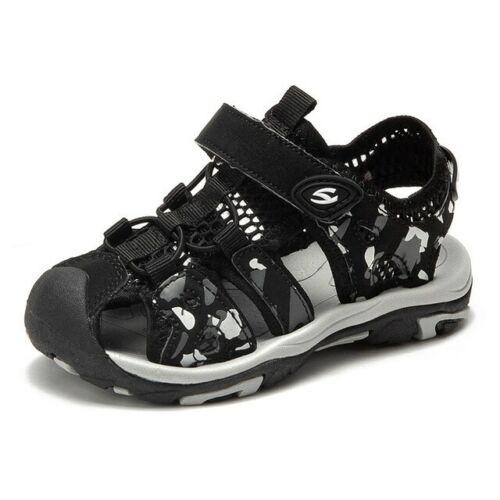 Enfants Garçons Filles Sandales Enfant Bébé Plage Chaussures Plates Mocassins Taille UK 8.5-4