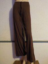 Pantalon de danse, gymnastique  ou fitness TEMPS DANSE PE142,  Marron en S