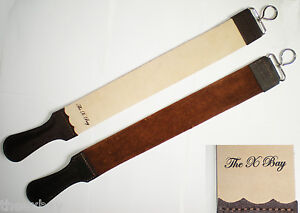 Barber-Leather-Strop-Straight-Razor-Sharpening-Shave-Shaving-2-5-034-X-25-034-LARGE