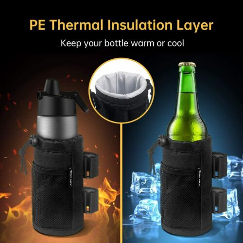 Sport Bicycle Wheelchair Insulation Cup Holder Water Bottle Cage Mount Drink Bag