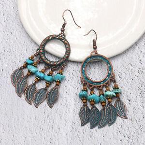 Women-Tassel-Earrings-Bohemian-Handmade-Beaded-Multicolor-Ethnic-Jewelry-S