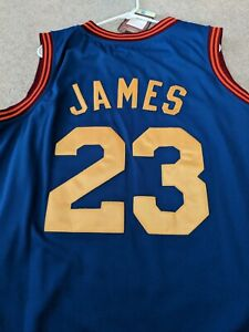 reputable site 20674 72ebc Details about BRAND NEW WITH TAGS STITCHED LEBRON JAMES CLEVELAND CAVS  JERSEY BLUE SIZE 52 XL