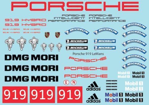 Decal Sheet 1//10 Sticker Le man P.919 XRAY Serpent d1313
