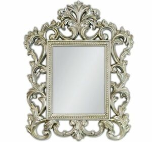 Rahmenspiegel barock wandspiegel silber antik rokoko 70x55cm renaissance woe ebay - Barock wandspiegel silber ...