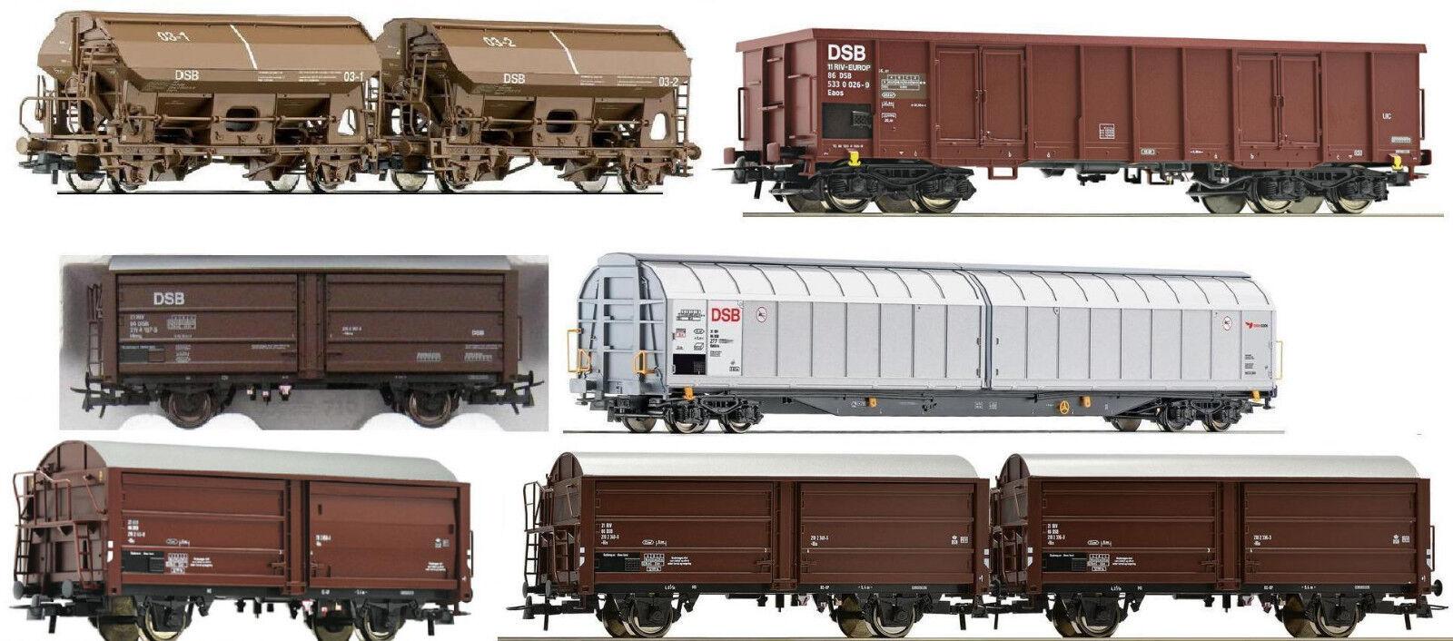 ROCO h0 8x DSB carri merci ep4-5 66020 76798 66925 66433 76995 67122 NUOVO a 62712