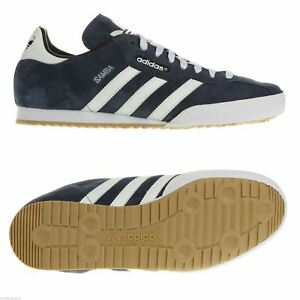 Adidas-Originals-Navy-Samba-Super-Baskets-Homme-Baskets-Chaussures-De-Football-Bleu