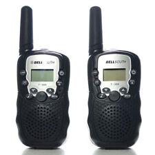 2x Baofeng Walkie Talkie UHF Auto Multi 8 Channels 2-Way Radios T388 Black BP