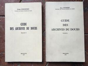 Guía Las Archivos de La Doubs Jean Courtieu Fascículo 1-2 Besancon 1967-1971