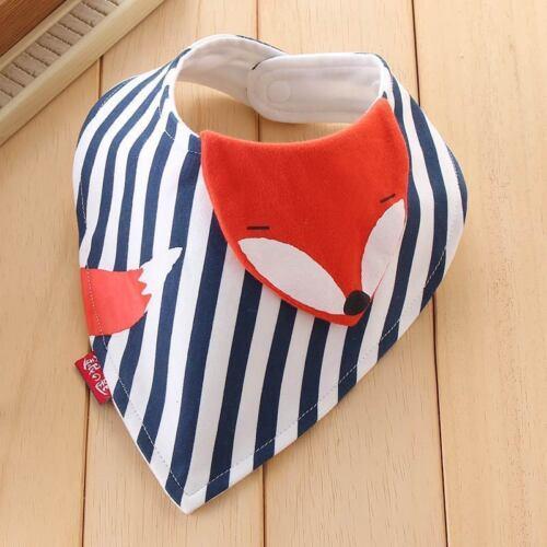Baby Neugeborenes Lätzchen  Dreieck Tuch Spucktuch mit  Fuchs Motiv