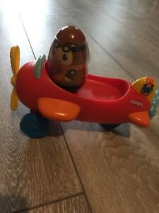 Playskool Weebles Pull String Aeroplane Plane Airplane Weeble Ebay