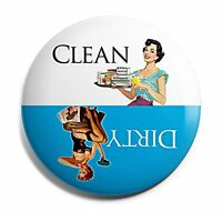 Blue Retro Clean Dirty Dishwasher Magnet, New, Free Shipping on Sale