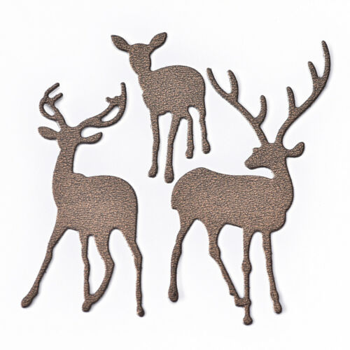 3x Christmas Deer Metal Cutting Dies Stencil Scrapbooking Embossing Paper Crafts