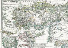 Echte 156 Jahre alte Landkarte Kappadokkien Türkei Syrien Kreta Zypern 1861