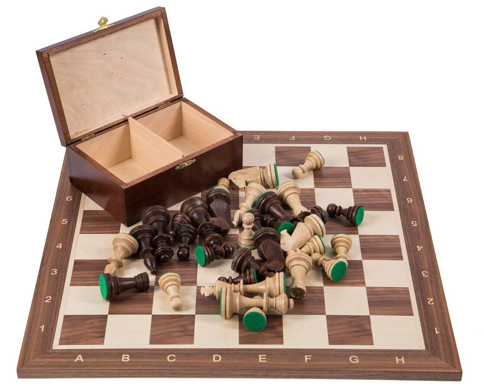 SQUARE - Pro Wooden Chess Set No. 6 - ITALIA  - Chessboard - Walnut wood