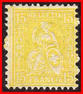 SWITZERLAND-1867-HELVETIA-SC-54-SBK-39-CV15-00-SFr-MNH-super-FRESH