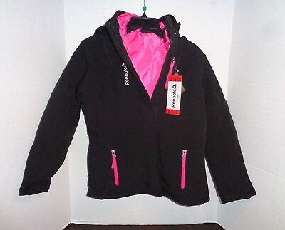 Reebok Mädchen Active Outerwear Jacke Softshell schwarzpink M 10 12 | eBay