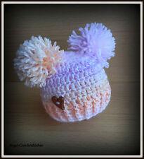 HANDMADE  Crochet Knit Easter Spring Hat Baby  sizes newborn photo prop