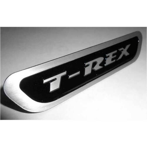 "T-Rex Black 5/""x1/"" Bolt On /""T-Rex/"" Logo Badge"