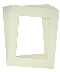 10 Of 18x24 White Pre Cut Acid Free Whitecore Mat For