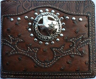 Cross Mens Wallet Texas Western Bifold W059 Brown