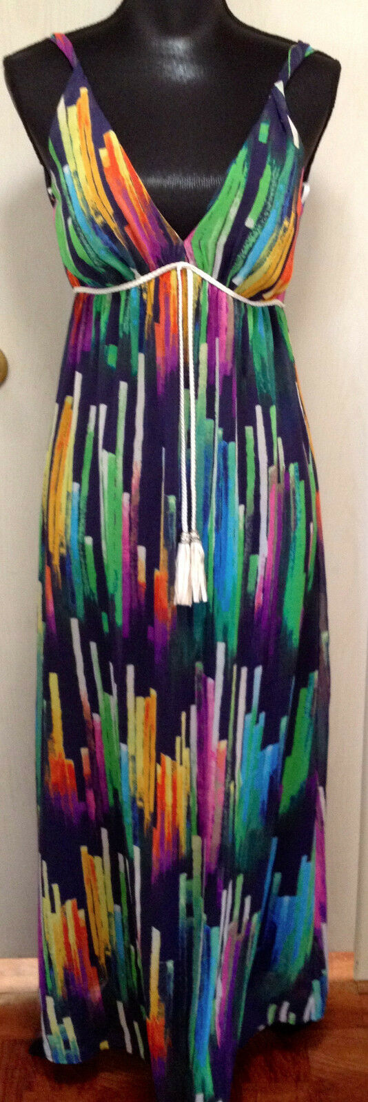 Papaya Multicolord Striped Sleeveless Dress Size Small